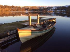 Barque équipée de rames et moteur électrique Minkota Enduramax