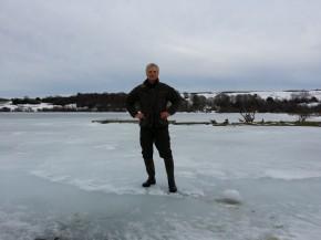 Lac encore bien gelé le 7 mars 2015